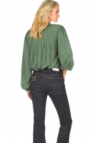 Lolly's Laundry |  Blouse with details Cara |  green  | Picture 8