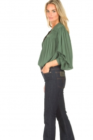 Lolly's Laundry |  Blouse with details Cara |  green  | Picture 7