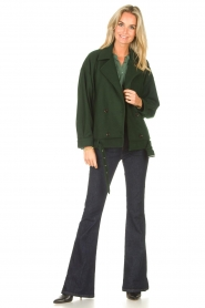 Lolly's Laundry |  Blouse with details Cara |  green  | Picture 3