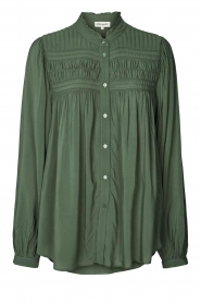 Lolly's Laundry |  Blouse with details Cara |  green  | Picture 1