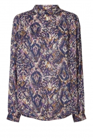 Lolly's Laundry |  Blouse with print Lari | blue  | Picture 1