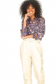 Lolly's Laundry |  Blouse with print Lari | blue  | Picture 2