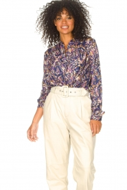 Lolly's Laundry |  Blouse with print Lari | blue  | Picture 5