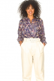 Lolly's Laundry |  Blouse with print Lari | blue  | Picture 4