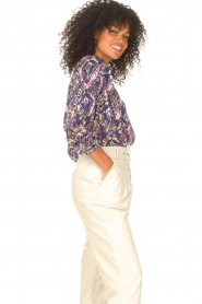Lolly's Laundry |  Blouse with print Lari | blue  | Picture 6