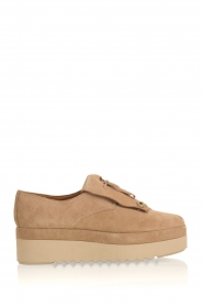 What For | Suède platform derby Arthur | naturel  | Afbeelding 1