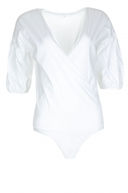 Patrizia Pepe |  Body blouse Camica | white  | Picture 1