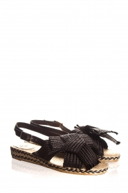 Castaner |  Sandals with bow Shania | black  | Picture 4