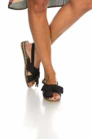 Castaner |  Sandals with bow Shania | black  | Picture 3