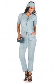 Sessun | Denim jumpsuit Belle | blauw  | Afbeelding 3