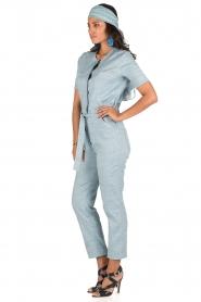 Sessun | Denim jumpsuit Belle | blauw  | Afbeelding 4