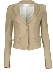 Patrizia Pepe | Klassieke blazer Floriana | donker beige  | Afbeelding 1