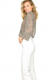 Lolly's Laundry :  Leopard print blouse Julie | grey - img5