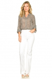 Lolly's Laundry :  Leopard print blouse Julie | grey - img3