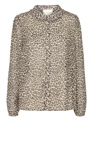 Lolly's Laundry |  Leopard print blouse Julie | grey  | Picture 1