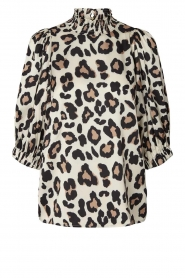 Lolly's Laundry |  Top with animal print Bobby | brown  | Picture 1
