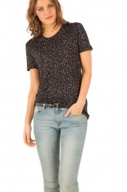 IRO | Linnen T-shirt Trudie | zwart  | Afbeelding 2