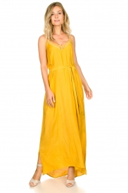 Lolly's Laundry :  Sleeveless maxi dress Beatrice | yellow - img4