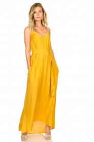 Lolly's Laundry :  Sleeveless maxi dress Beatrice | yellow - img2