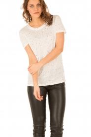 IRO | Linnen T-shirt Trudie | wit  | Afbeelding 2