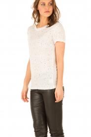 IRO | Linnen T-shirt Trudie | wit  | Afbeelding 4
