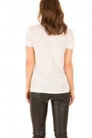 IRO | Linnen T-shirt Trudie | wit  | Afbeelding 5