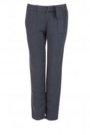 Sessun | Losvallende pantalon Healt | donkerblauw  | Afbeelding 1