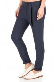 Sessun | Losvallende pantalon Healt | donkerblauw  | Afbeelding 4
