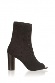 What For |  Peep toes ankle boots Victor | black   | Picture 1