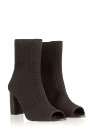 What For |  Peep toes ankle boots Victor | black   | Picture 4