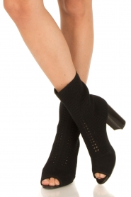 What For |  Peep toes ankle boots Victor | black   | Picture 2