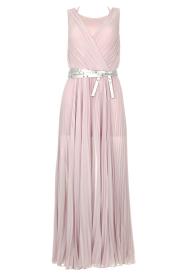 Patrizia Pepe |  Plisse maxi dress Stella | pink  | Picture 1