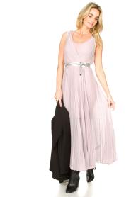 Patrizia Pepe |  Plisse maxi dress Stella | pink  | Picture 3