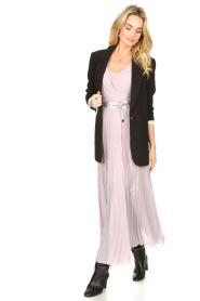 Patrizia Pepe |  Plisse maxi dress Stella | pink  | Picture 4