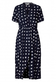Lolly's Laundry |  Midi dress with dots Marie | blue  | Picture 1