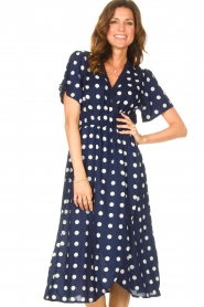 Lolly's Laundry |  Midi dress with dots Marie | blue  | Picture 2