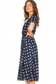 Lolly's Laundry |  Midi dress with dots Marie | blue  | Picture 5