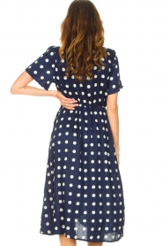 Lolly's Laundry |  Midi dress with dots Marie | blue  | Picture 6
