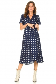 Lolly's Laundry |  Midi dress with dots Marie | blue  | Picture 3