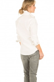 IRO | Denim blouse Batna | wit   | Afbeelding 5