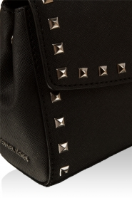 Leather bag Ava Stud | black