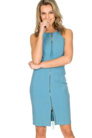 ELISABETTA FRANCHI   Jurk met lange rits Fiorenza   Blauw    Afbeelding 2