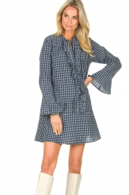 Lolly's Laundry    Checkered dress Haddy   blue    Picture 5