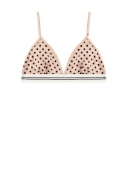 Love Stories |  Mesh polkadot bralette Uma | nude  | Picture 1