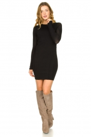 Patrizia Pepe |  Knitted dress Joanne | black  | Picture 3