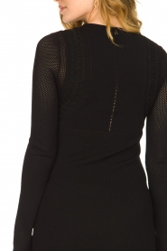 Patrizia Pepe |  Knitted dress Joanne | black  | Picture 7