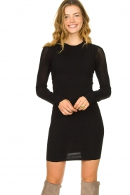 Patrizia Pepe |  Knitted dress Joanne | black  | Picture 2