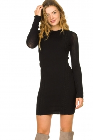 Patrizia Pepe |  Knitted dress Joanne | black  | Picture 4