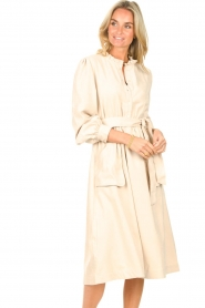 Lolly's Laundry |  Midi dress with pockets Karlo | creme  | Picture 4