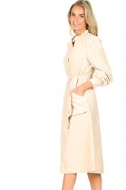 Lolly's Laundry |  Midi dress with pockets Karlo | creme  | Picture 5
